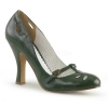 SMITTEN-20 Forest Green Faux Leather
